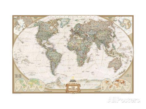 Weltkarte - Politisch Kunstdrucke bei AllPosters.de