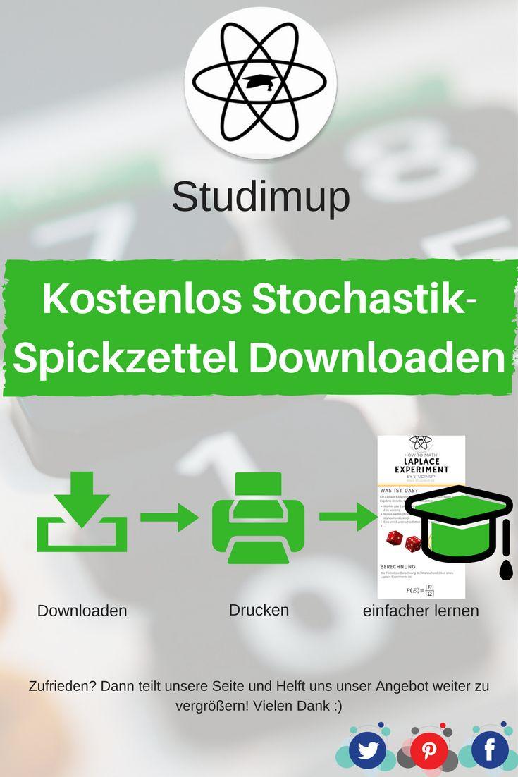 Bei uns könnt ihr kostenlos Stochastik Spickzettel zum lernen Downloaden, mit denen ihr dann lernen könnt. Mathe lernen leicht gemacht.