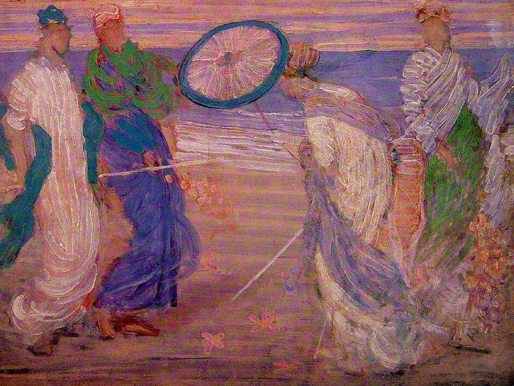 James Abbott McNeill Whistler, Sinfonia in blu e rosa, 1868