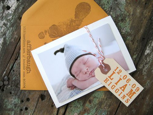 Baby Thank you cards... footprint on each envelope