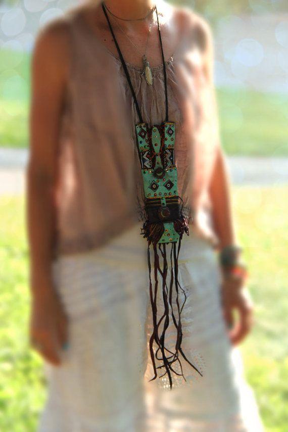 Your Secret Stash / African Tuareg Goat Leather by WomanShopsWorld, $198.00