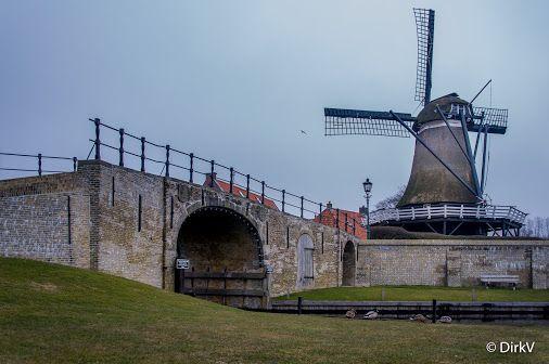 Molen de Kaai, Sloten, Friesland, Nederland. ✈ Traveling 🛄  Beautiful places to visit, Traveling, Travel, Reizen, Traveling tips, Traveling destinations.