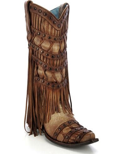 Corral Women's Fringe Layered Western Boots | Boot Barn