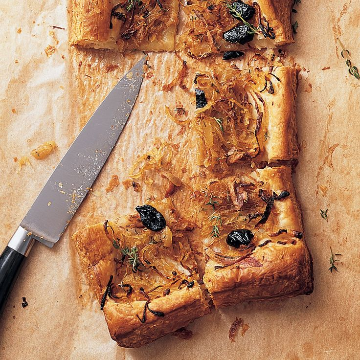 Anchovies are the surprise ingredient, adding another layer of umami to this savory tart.