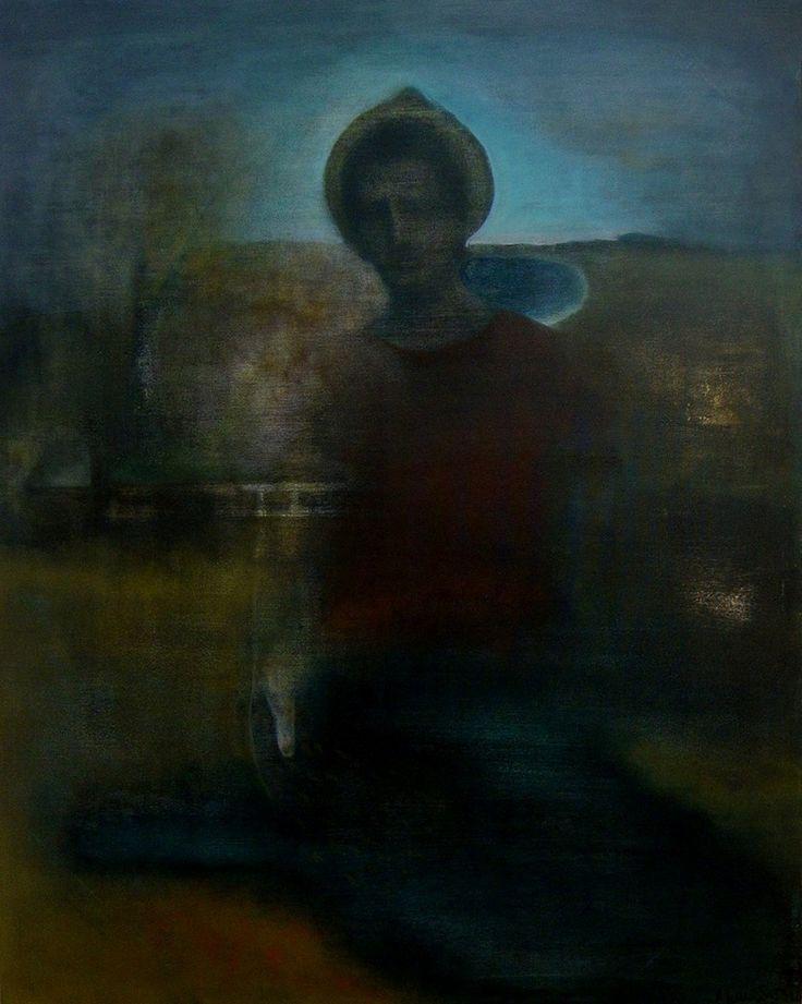 "Apostolis Itskoudis, ""Peasant"" (Αγρότης), acrylics on canvas, 120Χ150 cm, 2016."