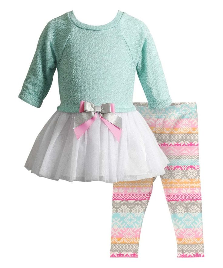 This Youngland Turquoise Drop-Waist Dress & Leggings - Infant, Toddler & Kids by Youngland is perfect! #zulilyfinds