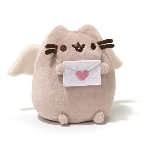 Pusheen the Cat Pusheen Cupid 4 1/4-Inch Plush - Gund - Pusheen - Plush at Entertainment Earth, <3.
