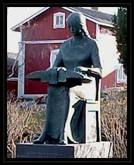 Lace-maker monument, Rauma, Finland.  Finish sculptor and professor Kauko Räike (1923-2005). Dedicated in 1976