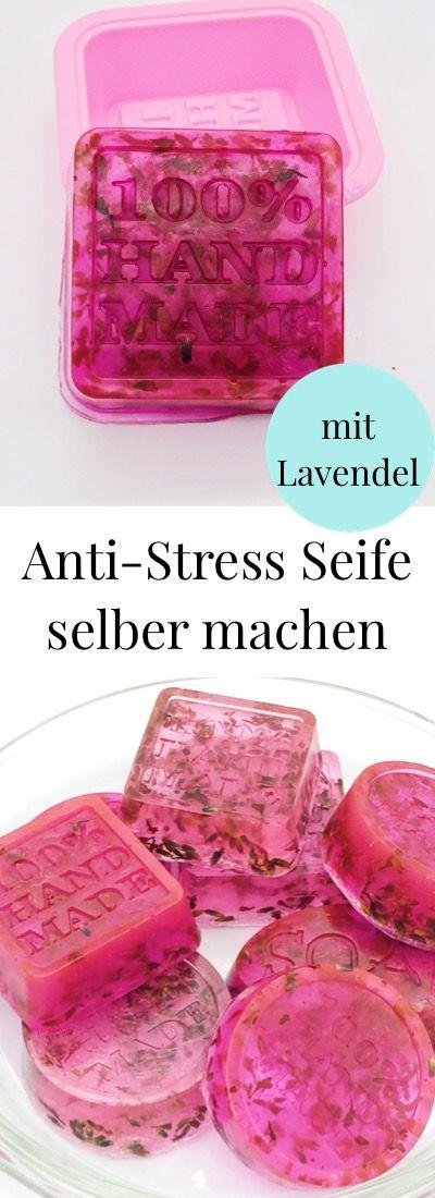 DIY Kosmetik: Seife selber mit Lavendel machen. Einfaches Rezept. Anti-Stress und …   – DIY Kosmetik & Wellness