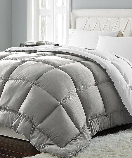 Blue Ridge Home Fashions Gray White Quilted Down Alternative