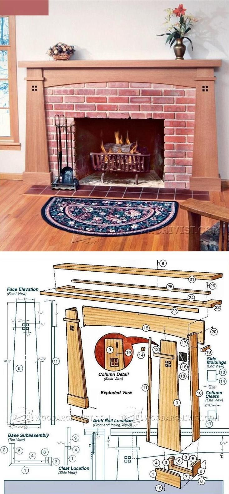 Fireplace Mantel Plans - Woodworking Plans and Projects | WoodArchivist.com