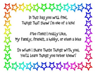 "Attach this poem to a paper bag --- This ""Me Bag"" is for the beginning of the year. It's great to build a classroom community and to get to know your kiddos."