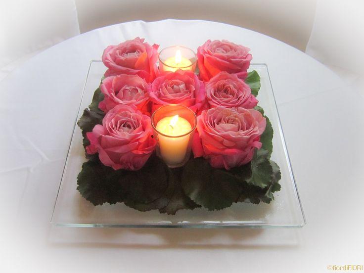 Centrotavola con candele