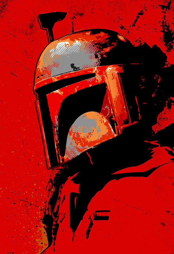 Boba Fett from Star Wars fan art illustration Canvas Art