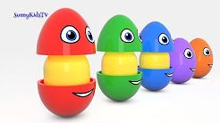 learn shapes surprise eggs - YouTube