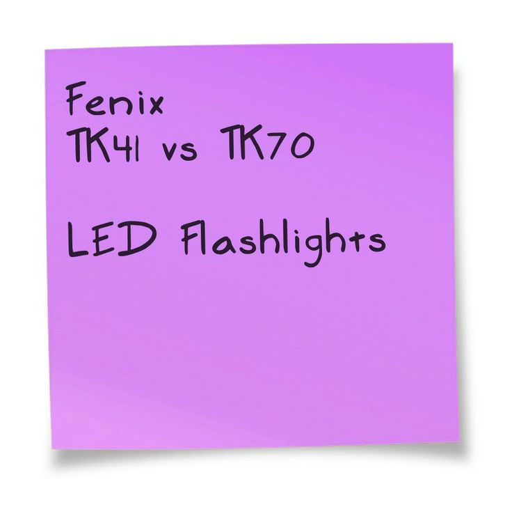 Fenix TK41 vs TK70 LED Flashlight. A comparison chart. Details at http://comchoose.com/fenix-tk41-vs-tk70-specs/
