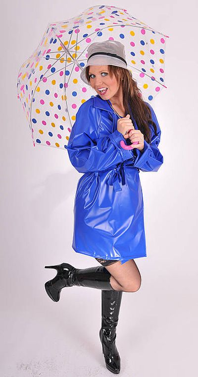 KEMO Cyberfashion Onlineshop für Mode und Regenkleidung aus PVC-PVC Regenmantel kurz