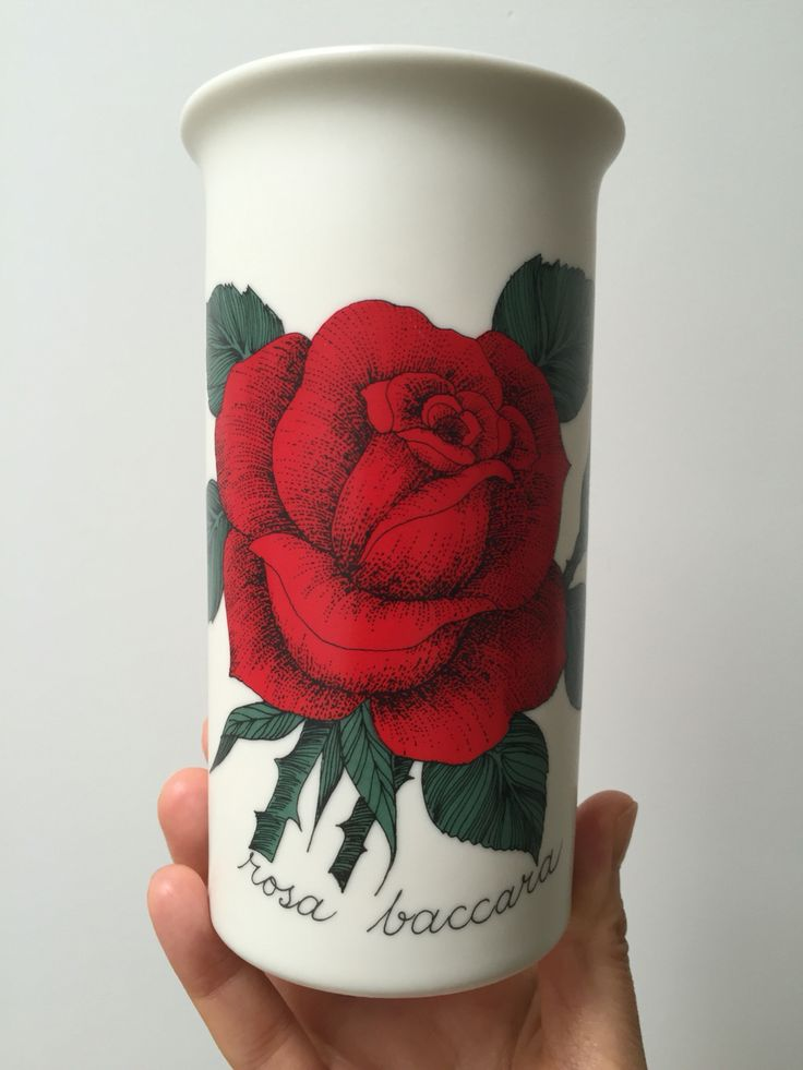 Rare vase from Arabia of finland Botanica Vase designed by Esteri Tomula Made in Finland. Mint condition. Please visit my shop scandinavianantique at Etsy.