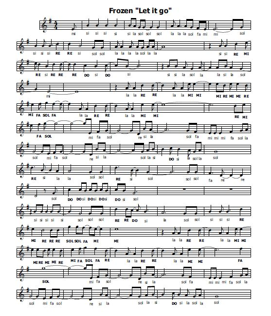 Musica e spartiti gratis per flauto dolce: Frozen-flauto