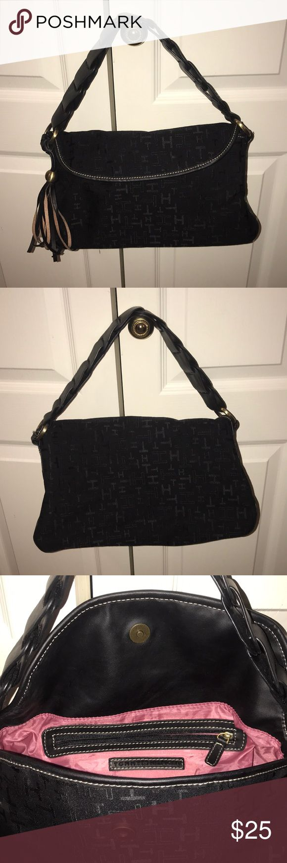 Tommy Hilfiger Purse Great condition.  Nice braided shoulder strap. Small ink stain on inside. Sale price or best offer!! Tommy Hilfiger Bags Shoulder Bags