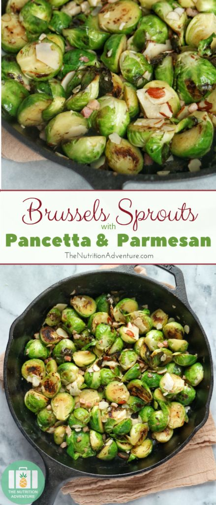 Brussels Sprouts with Pancetta & Parmesan | The Nutrition Adventure