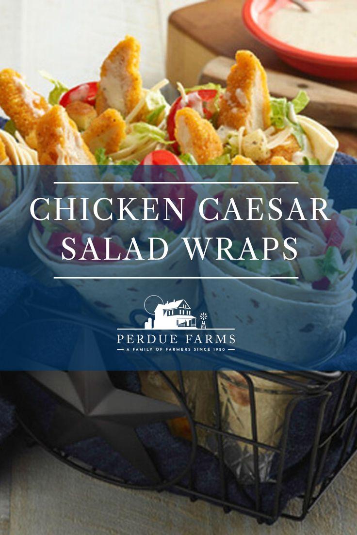 Chicken Caesar Salad Wraps In 2020 Chicken Caesar Salad Wraps Chicken Caesar Salad Caesar Salad