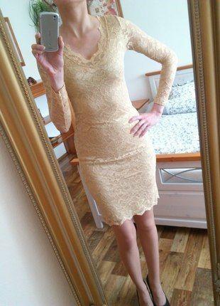 Kupuj mé předměty na #vinted http://www.vinted.cz/damske-obleceni/kratke-saty/11678601-zlate-krajkove-luxusni-saty-na-svatbu-i-ples