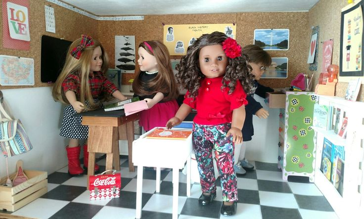 Today in the schoolroom...It's too snowy and cold for recess, so the girls are keeping busy and staying warm inside.