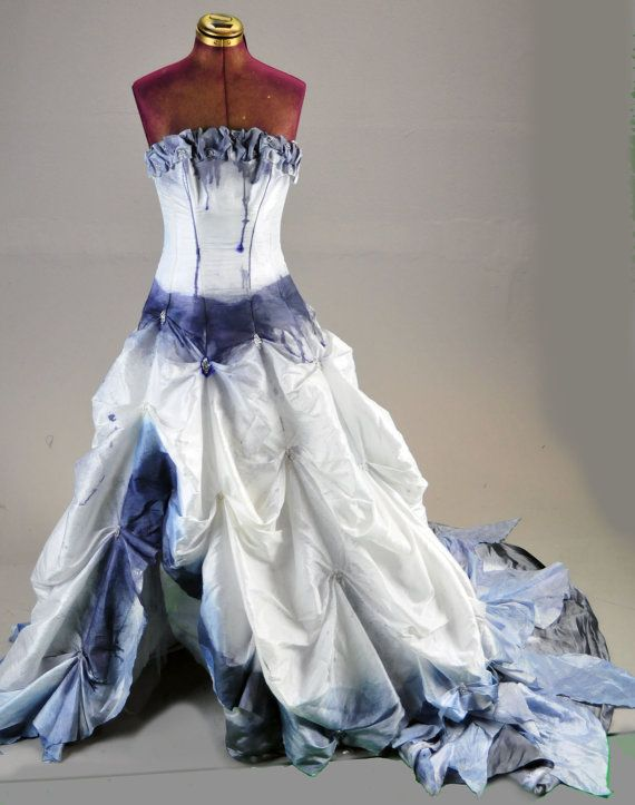 Tim Burton Corpse Bride Wedding Zombie Dress gown by LotofVIntage
