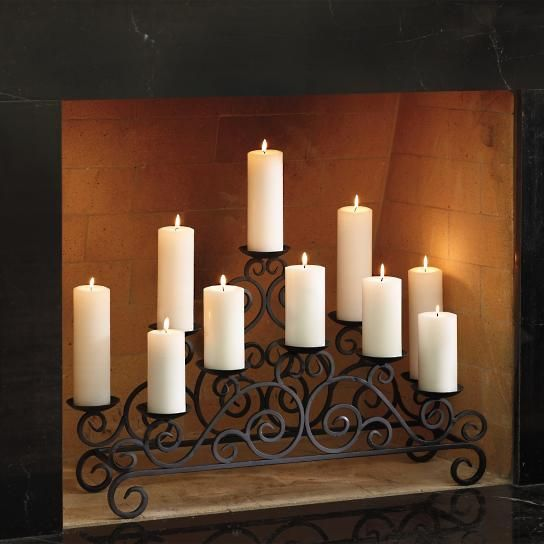 17 best ideas about candle fireplace on pinterest