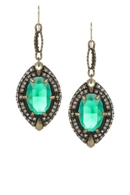THE EARRINGS  Lulu Frost Absinthe Crystal Earrings, $220; net-a-porter.com