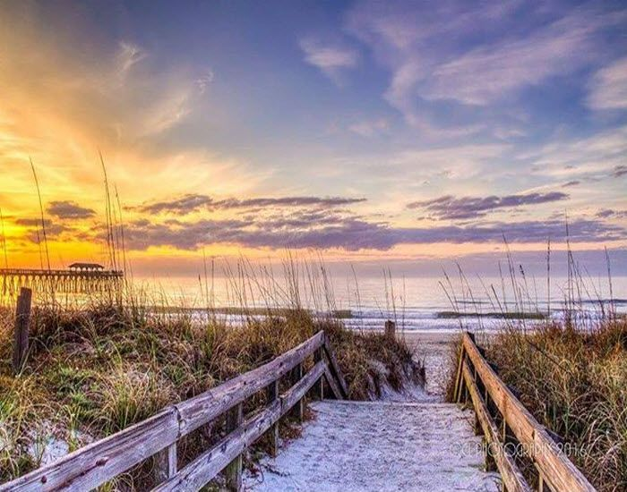 Sunrise at Myrtle Beach State Park, Myrtle Beach, South Carolina (Photo via Instagram by@cl_photography)