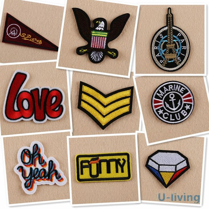 Cheap mixed patches, Buy Quality fashion patches directly from China patches fashion Suppliers: 1pcs Mix fashion Patches for Clothing Iron on Embroidered Sew Applique Cute Patch Fabric Badge Garment DIY Apparel Accessories