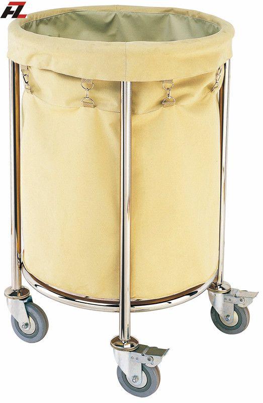 Hotel Stainless Steel Rolling Linen Trolley-Laundry Trolleys