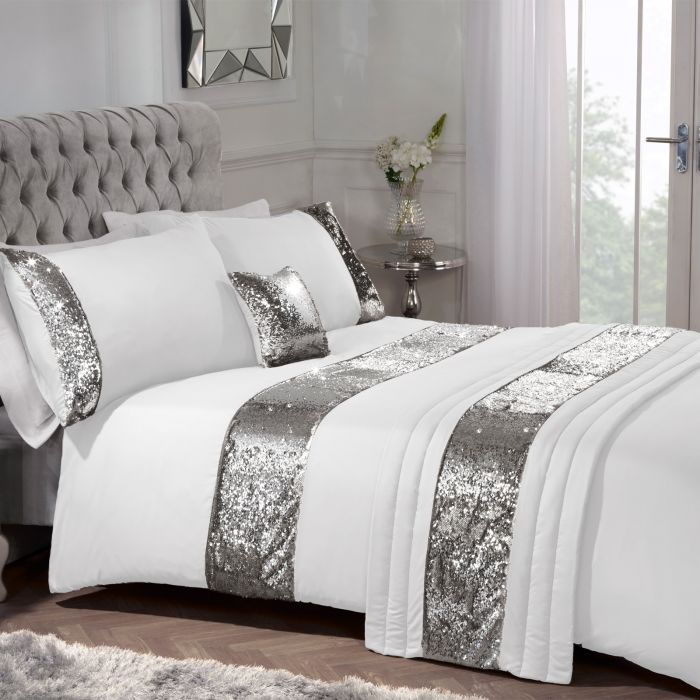 Daybed Comforter Sets Grey Bedroom Decor, Silver And White Bedding Sets