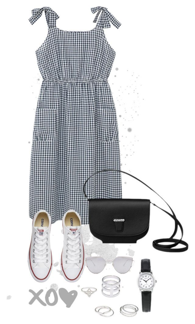"""Untitled #136"" by kryssicha on Polyvore featuring Violeta by Mango, Converse, Gentle Monster and Topshop"