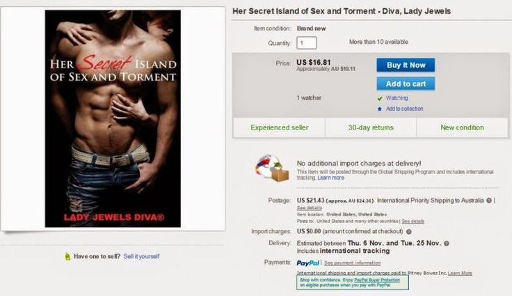 LJD - It's so weird that my books are being sold on eBay. - http://www.jewelsdiva.com.au/2014/11/its-so-weird-that-my-books-are-being-sold-on-ebay.html