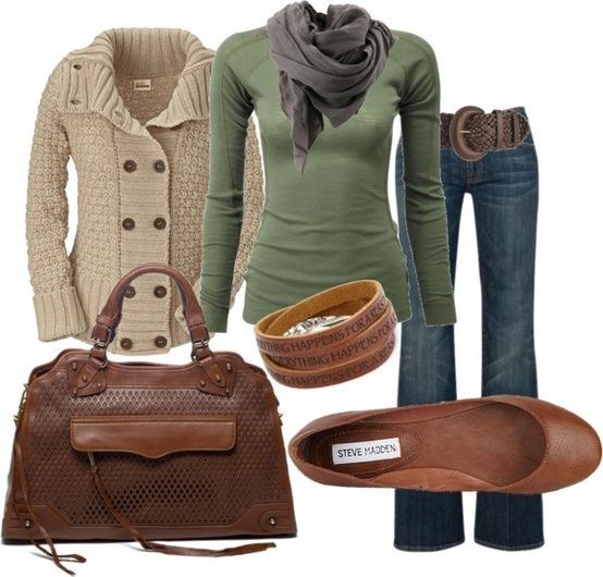 Fall outfit. Minus the brown shoes, replace with brown boots.