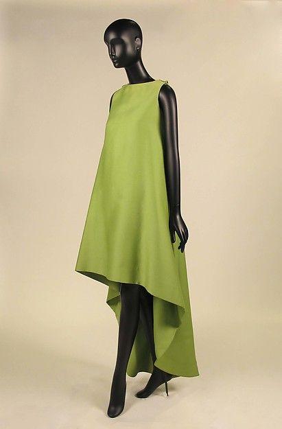 Dress  Design House:House of Balenciaga (French, founded 1937) Designer:Cristobal Balenciaga (Spanish, Guetaria, San Sebastian 1895–1972 Javea) Date:1967 Culture:French Medium:silk