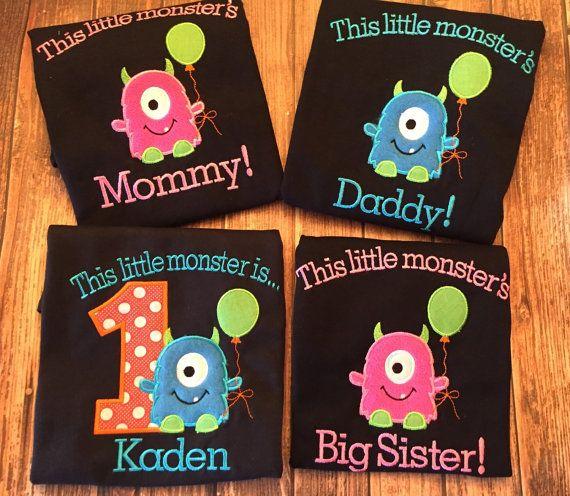Custom Little Monster First Birthday Set By LittleChickiesClips