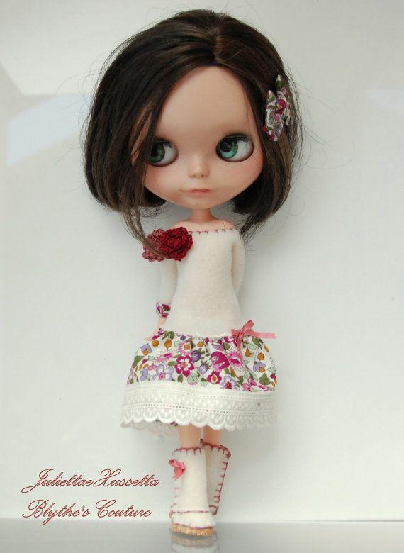 Blythe. vestido botas y lazo para el pelo. por juliettaexussetta, €23.00