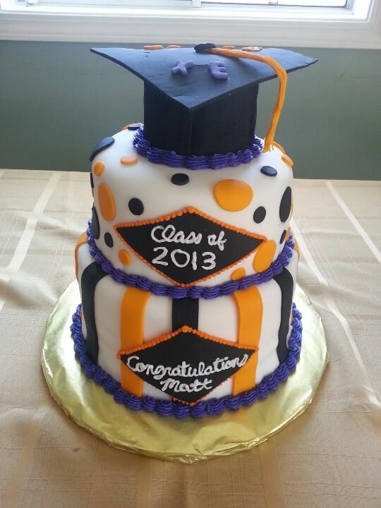College Graduation Cake Images : Homemade three layer college graduation cake by @Kathryn ...