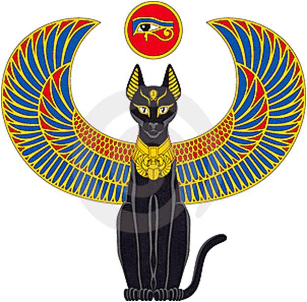 египетские кошки рисунки