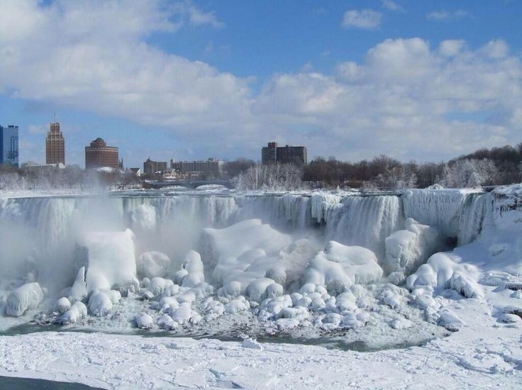 Niagara Falls frozen today, Jan 8, 2014. Global warming at it's best! But beautiful! From Twitter