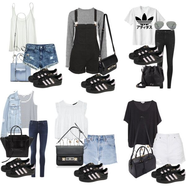 Image result for adidas black superstar foundation with outfit
