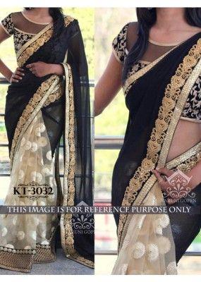 Bollywood Replica - Designer Black Saree - KT-3032