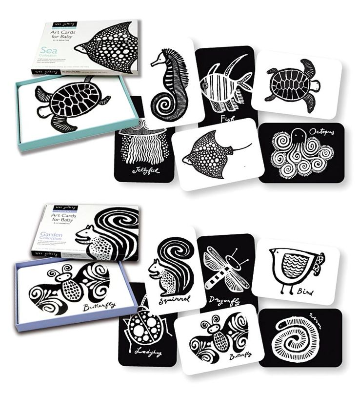 Black and White Art Cards for Baby from Wee Gallery