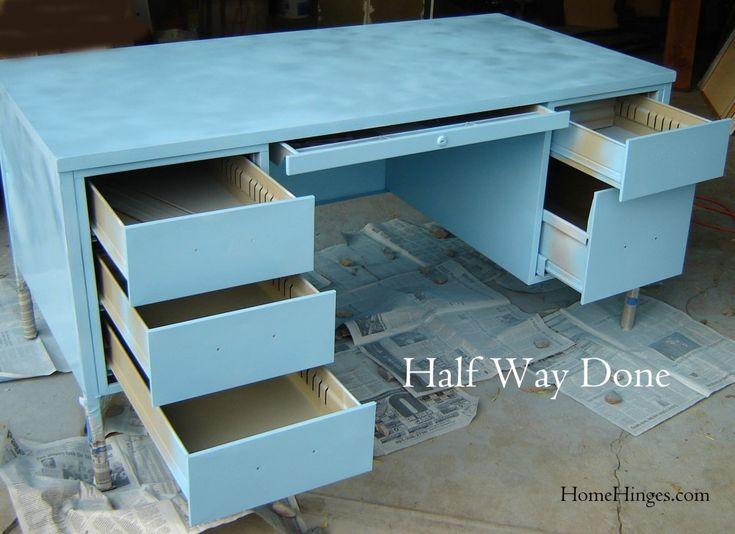 Unfinished Blue Desk