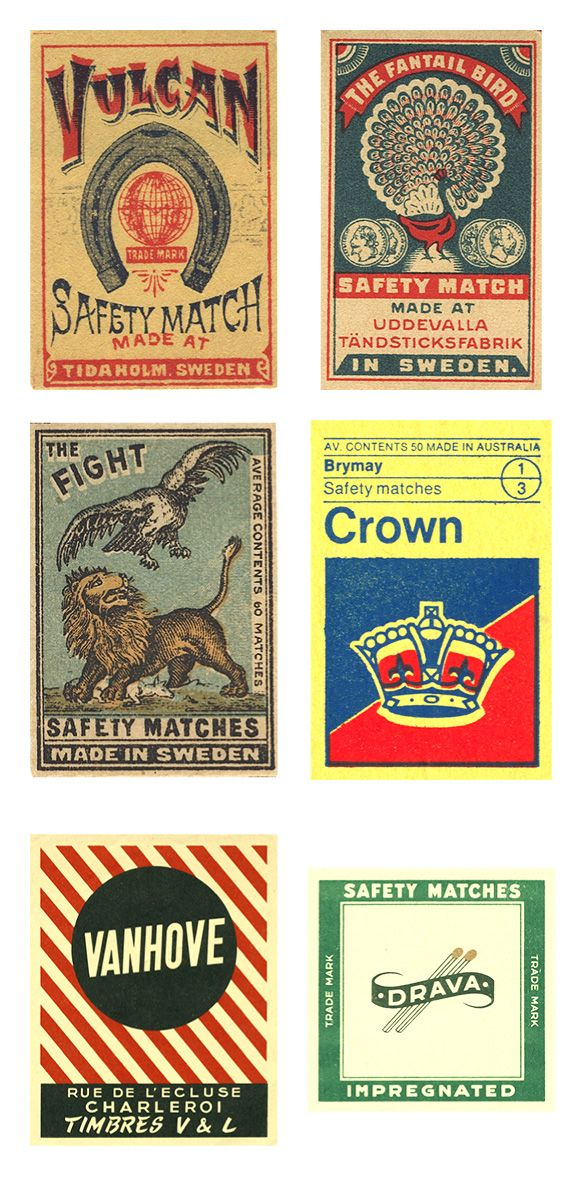 Antique Matchbox Covers  compliments of Typedeck