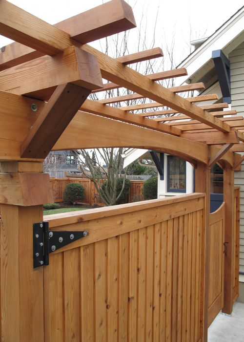 Craftsman style fence garden outdoors pinterest for Craftsman style fence